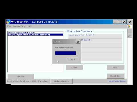 How to reset  Epson printers - FREE download Waste Ink Reset program