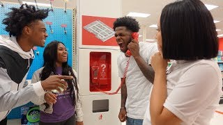 TRYING TO GET KICKED OUT TARGET CHALLENGE FT. TAY & JASS