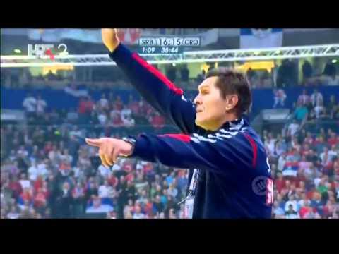 Hrvatska - Srbija  polufinale  EHF 2012