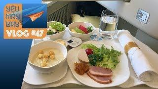 VLOG #47: Ăn gì trên máy bay Vietnam Airlines? | Yêu Máy Bay