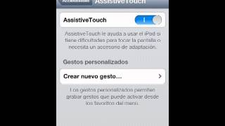 Como activar assisteve touch en mi dispositivo Apple
