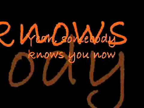 Brad Paisley - Somebody Knows You Now