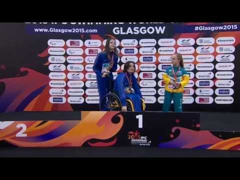 Women's 100m Freestyle S6 | Victory Ceremony | 2015 IPC Swimming World Championships Glasgow