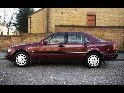 1996 MERCEDES-BENZ C180 1.8 LITER W202 VIDEO REVIEW: ENGINE STARTING.DRIVING. EXHAUST SOUND