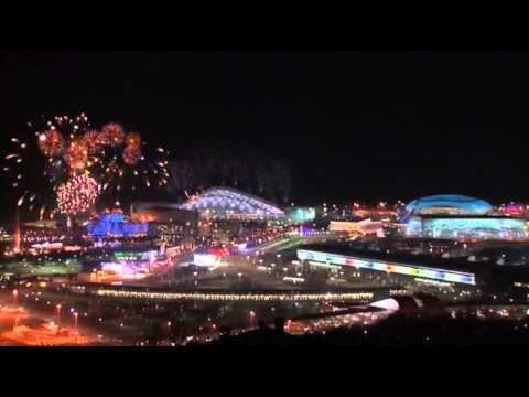 Raw: Opening Fireworks of the Winter Games