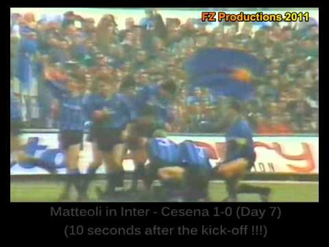 The best goals scored in Italy in 1988/89 season. You can see goals scored by champions like Donadoni, Brehme, Zavarov, Gullit, Careca, Maradona, Altobelli, ...
