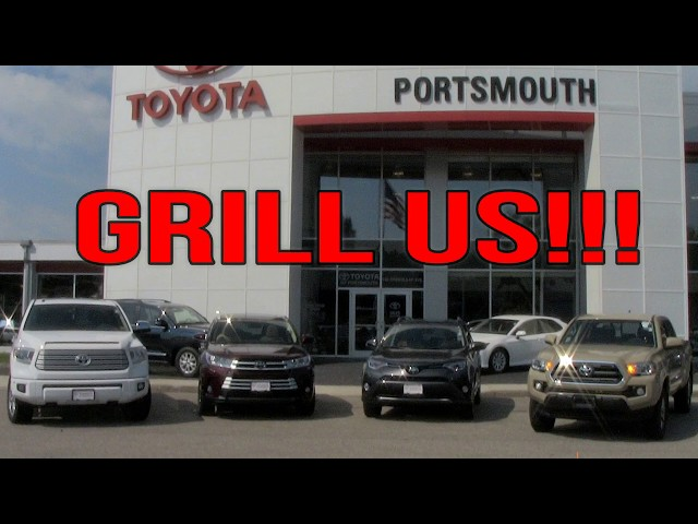 Toyota of Portsmouth Grill Us!! - YouTube