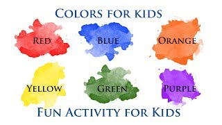 Colors for Kids, Fun Activities for Kids,Color Activities for kids,learning colors,learn colors, DIY
