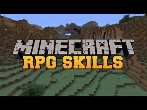 Minecraft: RPG SKILLS (Train and level up your skills!) Mod Showcase