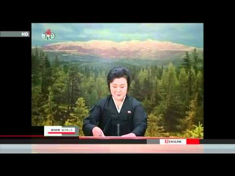Official North Korea State TV Announcement of Death of Kim Jong Il