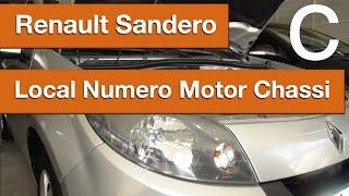 Dr CARRO Local Numero Motor e Chassis Sandero Renault