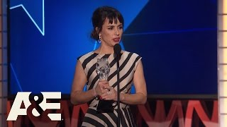 Constance Zimmer Wins Best Supporting Actress in a Drama Series | 2016 Critics' Choice Awards | A&E