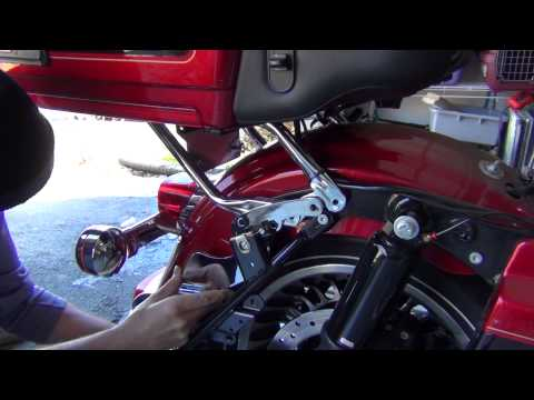 Chrome Hitch Installation for Harley Electra Glide 2009+
