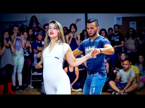 Arthur Santos & Layssa Liebscher - Circular Head Movements 2016 NYC Zouk Festival - Hotline Bling