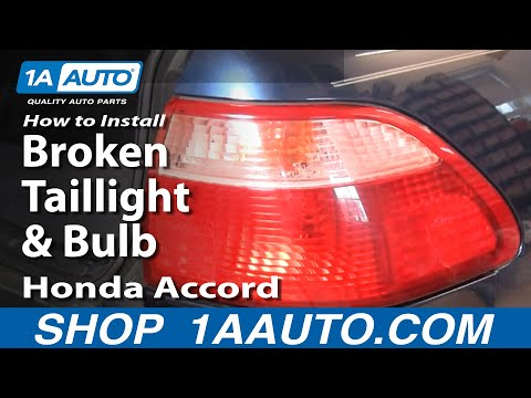 How To Install Repair Replace Broken Taillight and Bulb Honda Accord 98-02 1AAuto.com