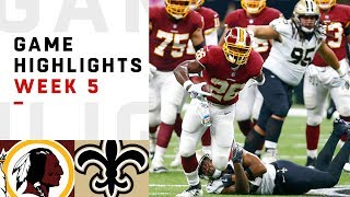 Redskins vs. Saints Week 5 Highlights | NFL 2018