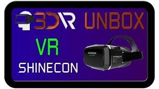 Распаковка очков виртуальной реальности VR Shinecon для смартфонов