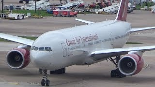 *RARE - FIRST VISIT* Omni Air B777 Departing MAN back to BHX on a Monarch Relief Flight!