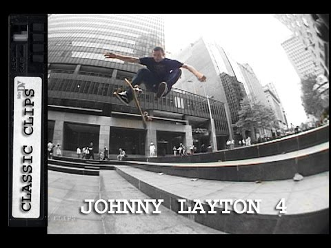 Johnny Layton Skateboarding Classic Clips #226 Part 4