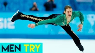 Men Try Figure Skating - Extreme Figure Skating Challenge