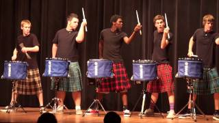 THE OFFICIAL Scots drum line - 2011 - Nigel - Talent Show at LHHS