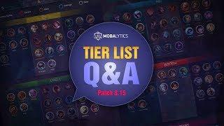 League of Legends Mobalytics Patch 8.15 Tier List Q&A