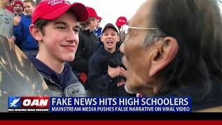 Fake news hits high schoolers, MSM pushes false narrative on viral video