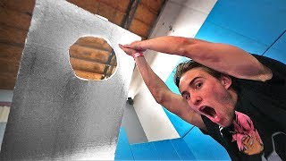 The WALLS are FALLING! *HOLE in the WALL challenge*