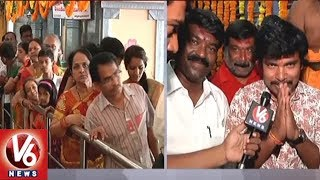 Sampoornesh Babu Performs Special Prayers At Warangal Bhadrakali Temple