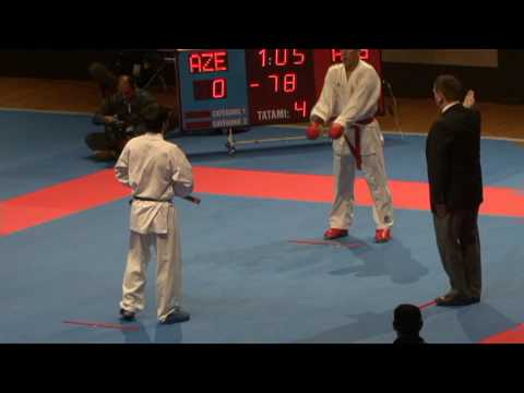 2009 WKF Jr Worlds -21 Men -78 Kg Aka Algeria vs Ao Azerbaijan...