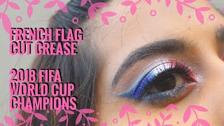 France flag cut Crease | Fifa soccer world cup finals 2018 | Chermel's World