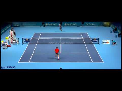 Kei Nishikori - Best points of ATP World Tour Finals 2014 ᴴᴰ(London Finale 2014)