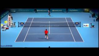 Kei Nishikori - Best points of ATP World Tour Finals 2014 ᴴᴰ(London Finale 2014)