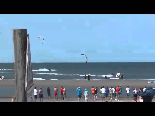Final Race of Men's Slalom Round 3 at the Think Blue Kitesurf World CupDay Womens Final Round 3