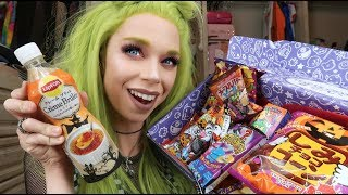 Tasting Halloween Snacks from JAPAN! Edible Slime? - Vlogoween Day 6