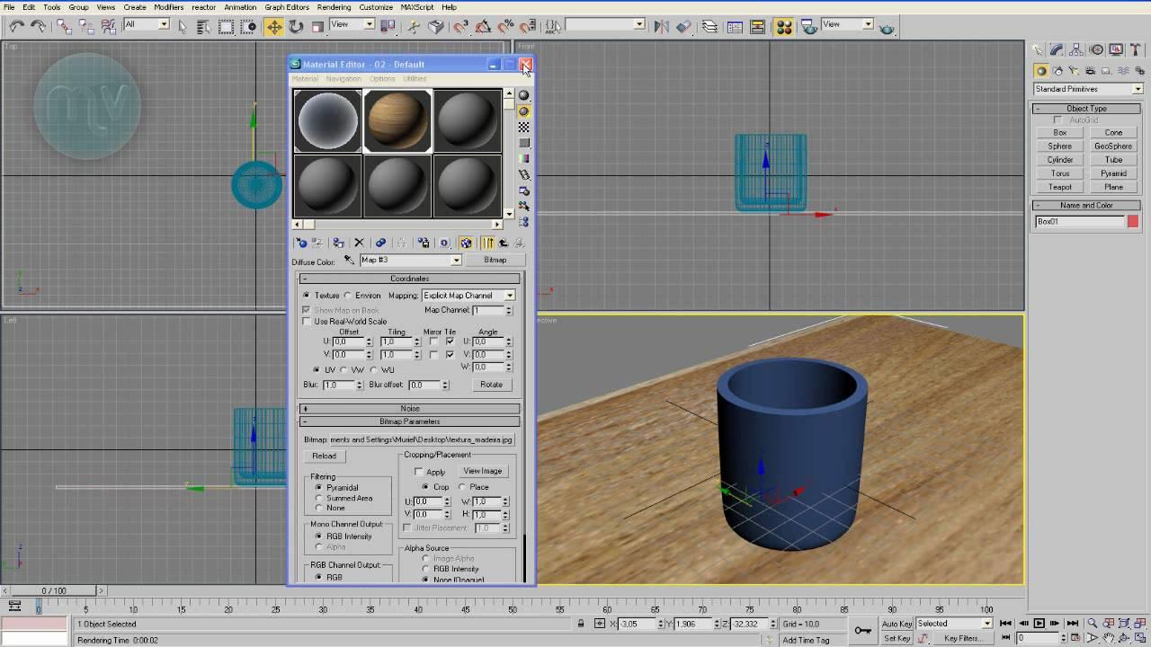 Tutorial 01 aprenda a modelar e texturizar um copo 3d for Modelar habitacion 3d max