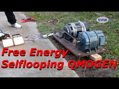 Free Energy Motor - Generator QMOGEN 1KWATT EVIVA unit from Kiev Ukraine.