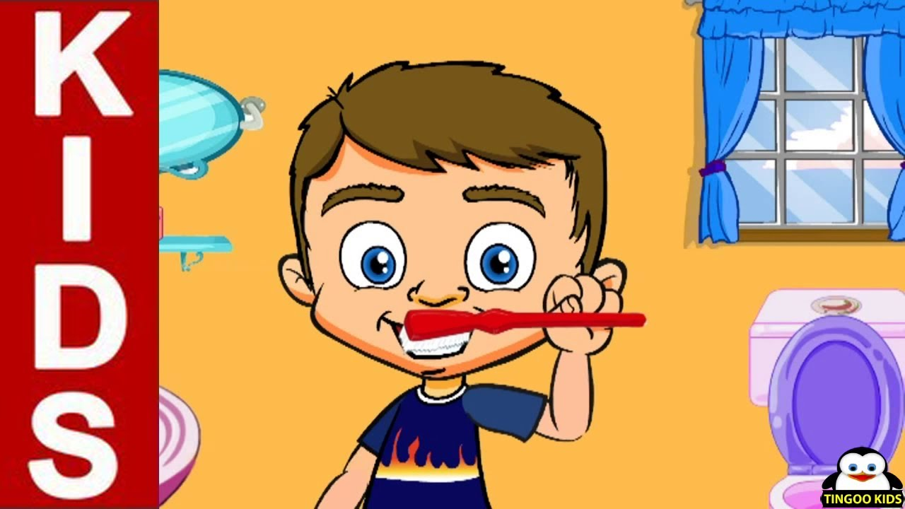 first i have to brush my teeth cartoons animation