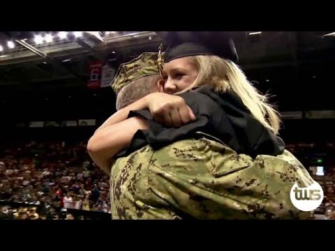 Navy Dad Surprises Daughter At Graduation video