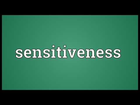 Header of sensitiveness