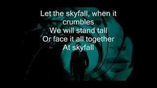 Adele - Skyfall Lyrics on screen
