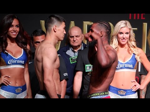 DIMITRY BIVOL v CEDRIC AGNEW - OFFICIAL WEIGH IN VIDEO FROM MANDALAY BAY / WARD-KOVALEV 2
