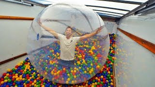 Moving truck VS Giant ZORB ball! (Ft. FaZe Rug)