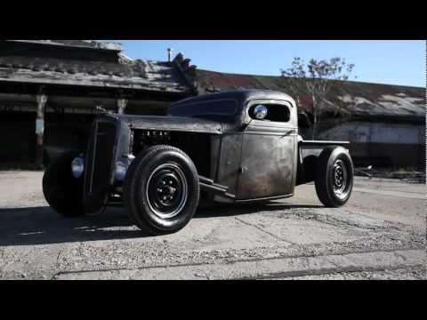 1936 Chevy Bare Metal Chopped Pickup Truck