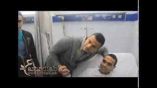 زيارة عمرو دياب للجمهور فى المستشفى بعد انتهاء الحفله