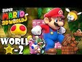 Super Mario 3D World: 2P Co-Op! Mega Galaxy STAR-2 (Nintendo Wii U HD Gameplay Walkthrough)