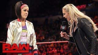 Charlotte Flair addresses the \