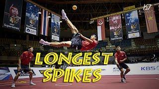 Sepak Takraw ● Crazy Longest Spikes Compilation | HD