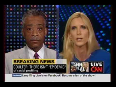 GATES CASE: Ann Coulter Teaches Al Sharpton & All Racists A Lesson pt1 7/30/09