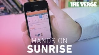 Sunrise for iOS hands-on